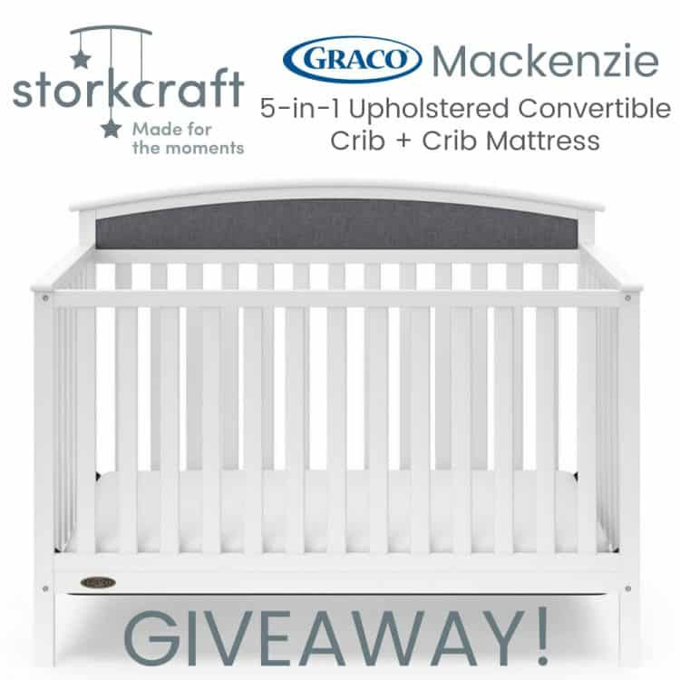 Graco Mackenzie 5in1 Upholstered Convertible Crib Giveaway ends 5