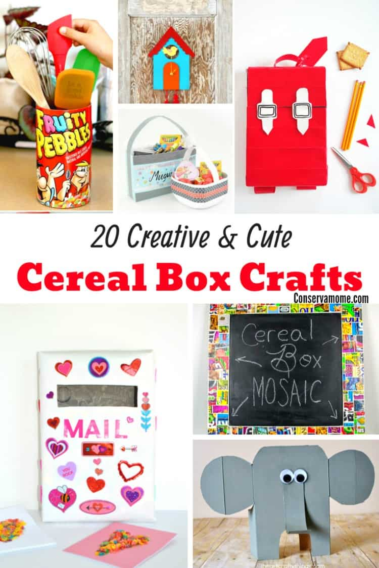 Ready to upcycle your old cereal boxes? Check out20 DIY Creative & Cute Cereal Box Crafts you can make!