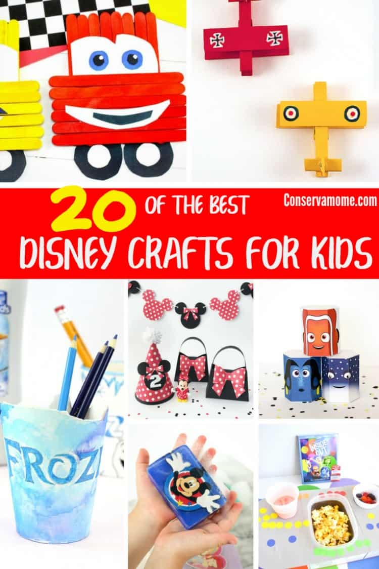 Do you have a little one that loves Disney? Here's a fun round round up of 20 of the Best Disney Crafts for kids.