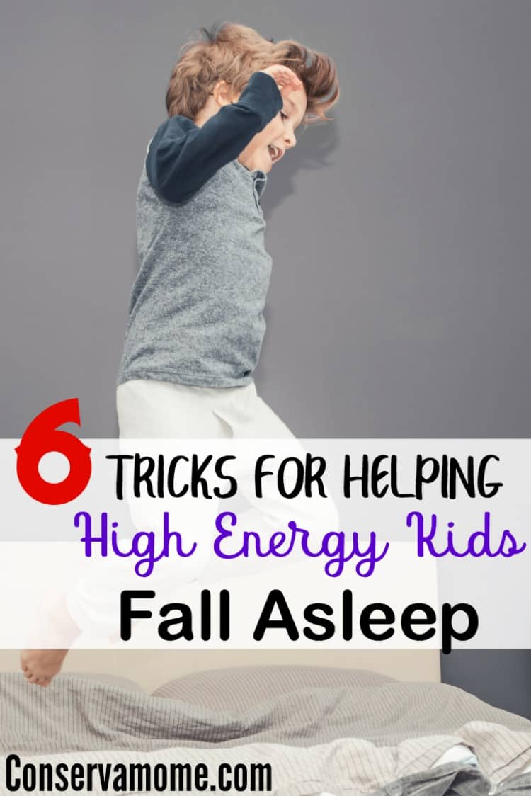 Do you have trouble getting your high energy kid to fall asleep? Check out 6 Tricks for Helping High Energy Kids Fall Asleep and save your night time sanity!
