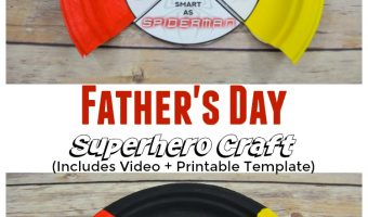 Super Hero Father's Day Craft Idea