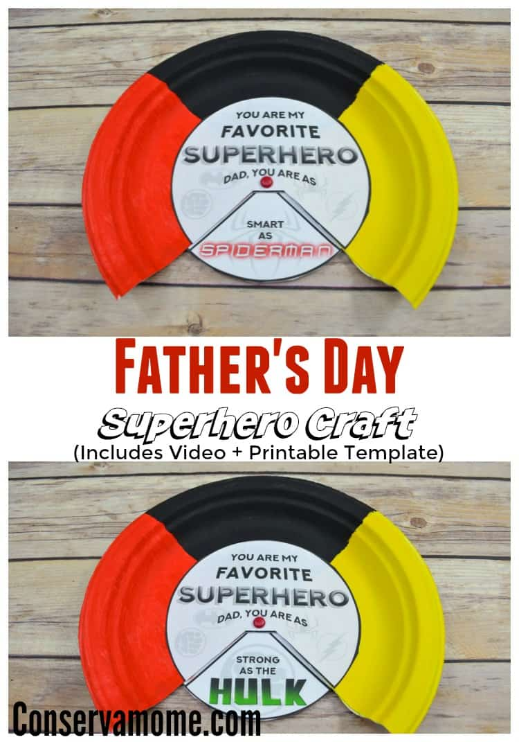 Conservamom Super Hero Father S Day Craft Idea Conservamom