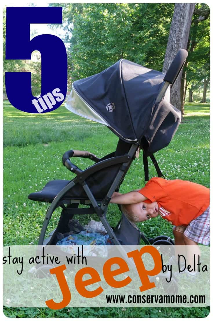 Staying active just got easier thanks to the Jeep Ultralite Adventure Stroller by Delta. Check out 5 Tips to Stay Active as a mom and get out of that energy rut we so easily fall into as parents.