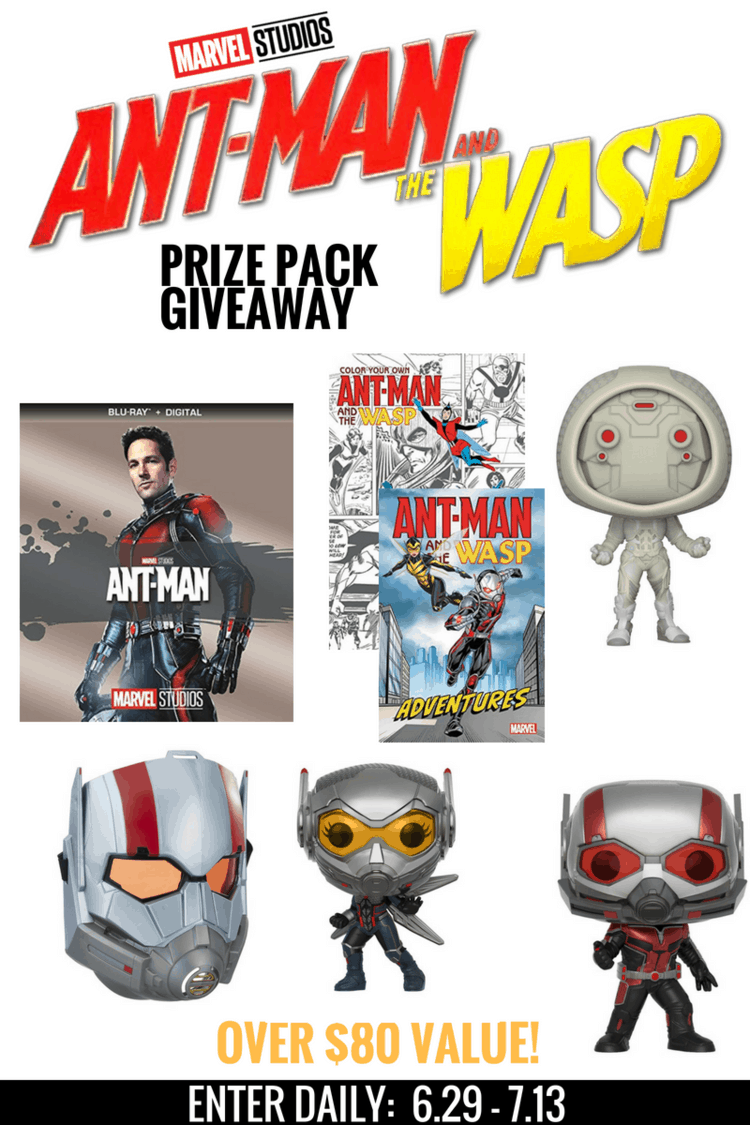 Ant-Man and The Wasp Prize Pack Giveaway ends 7/13