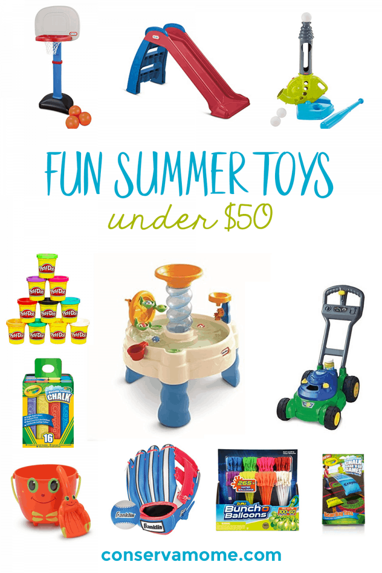 Keeping kids busy this summer doesn't have to cost a fortune. Check out Fun Summer Toys for under $50 !