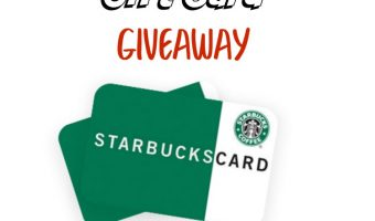 $25 Starbucks Gift Card Giveaway ends 6/24