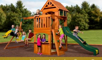 Backyard Discovery Atlantis Wooden Swing Set Giveaway ends July 20!