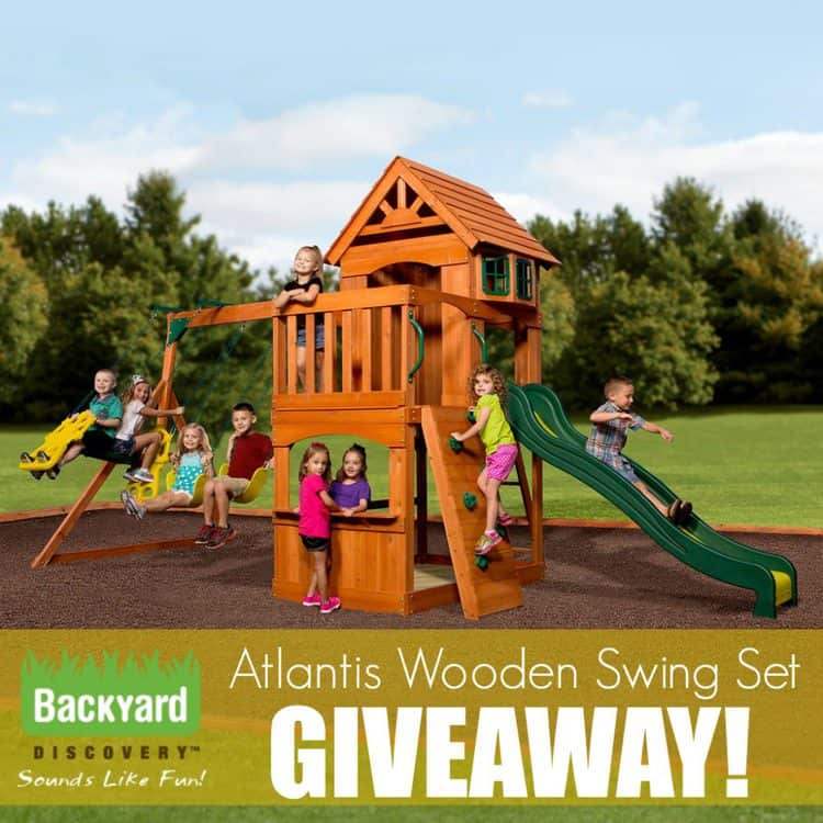 Enter to win a Backyard Discovery Atlantis Wooden Swing Set!