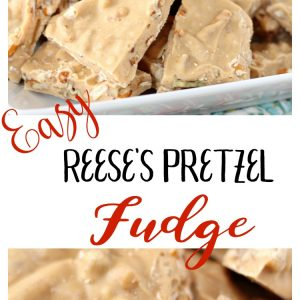 Easy Reese's Pretzel Fudge