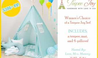 Teepee Joy Handmade Kids Teepee set giveaway ends 8/24