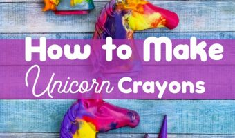 How to Make Unicorn Crayons