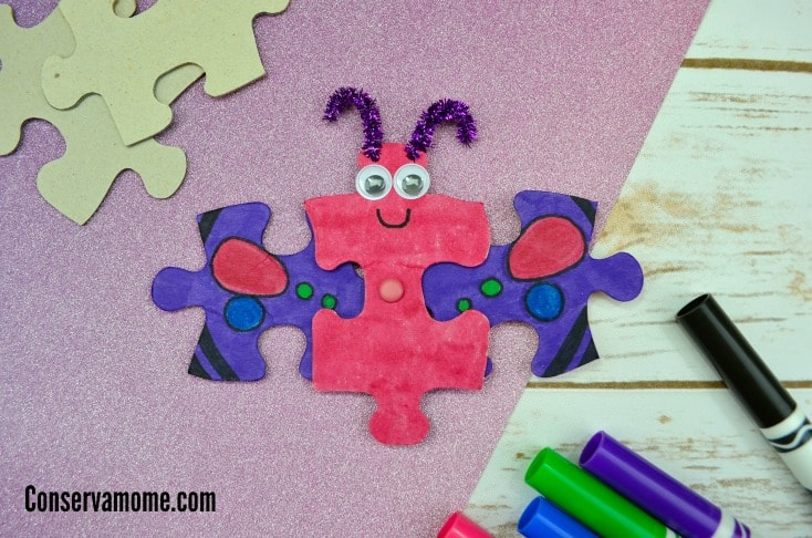 Are you dreaming of spring? Here's a fun and easy Butterfly Puzzle Craft with Flapping wings- An Easy Spring Craft!