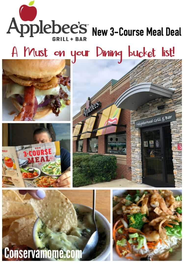 Find out why Applebee's 3-Course Meal Deal is a  Must on your Dinning Bucket List.