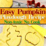 easy pumpkin playdough recipe