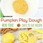 Non toxic Pumpkin play dough recipe