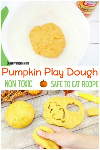 Non toxic Pumpkin play dough recipe