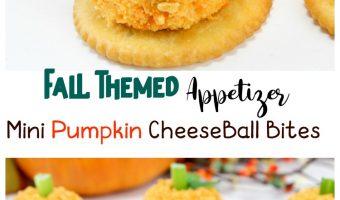 Fall Themed Appetizer: Mini Pumpkin Cheese Ball Bites