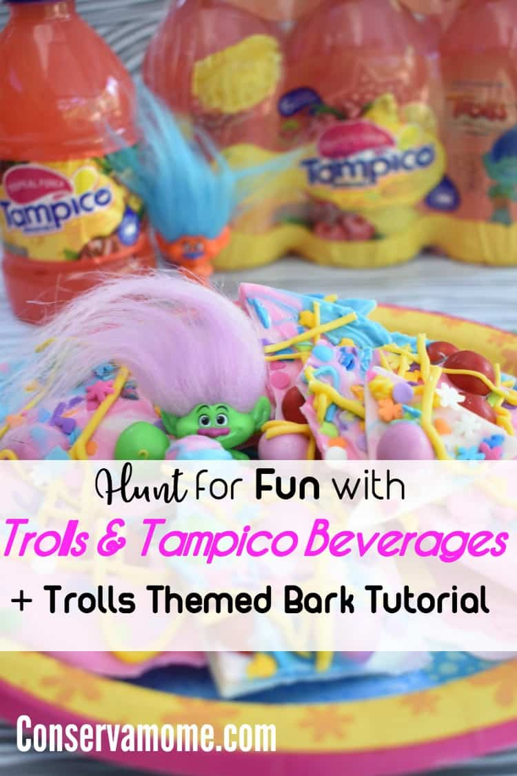 "Tampico Beverages + DreamWorksTV's animated series, ""Trolls #TheBeatGoesOn. have teamed up for a fun Game. Head over to my page to check it out and Hunt for Fun + Check out a Trolls Themed Bark Tutorial #TampicoJuice #TampicoFlavorHunt"