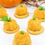 Pumpkin cheese ball appetizers