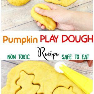 Non Toxic Pumpkin Play dough recipe – Safe To eat!
