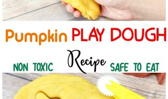 Non Toxic Pumpkin Play dough recipe – Safe To eat!