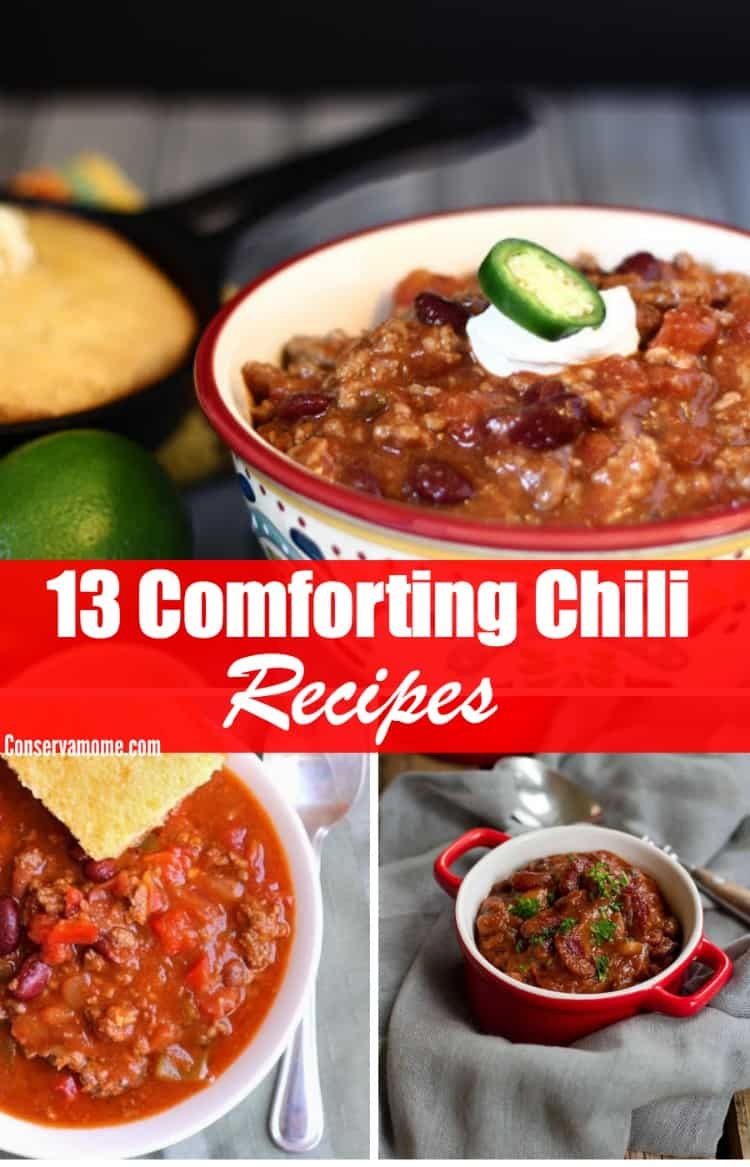 Fall is the perfect time to whip up some delicious Chili! Here's your chance to enjoy some yummy chili with 13 comforting chili recipes.