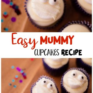 Easy Mummy Cupcakes Recipe- A fun halloween treat idea!
