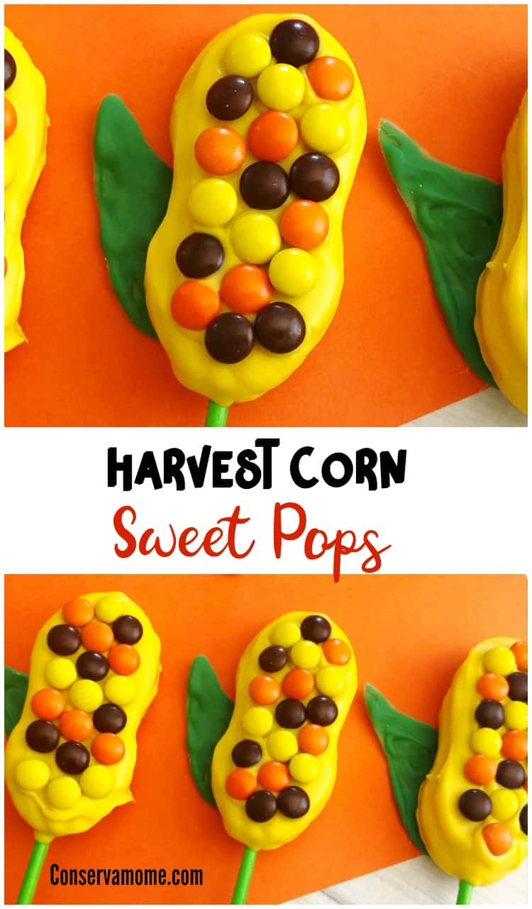 Harvest time just got a little sweeter with this fun and delicious Harvest Corn Sweet Pops. You'll fall in love with this fun and creative Fall themed treat.