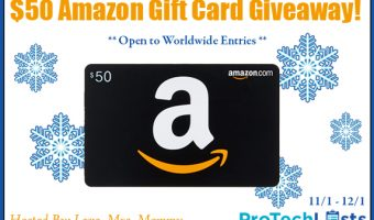 Enter to win a$50 Amazon Gift Card ends 12/1