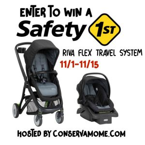 Enter to win a Safety 1st Riva Flex Travel System ends 11/15