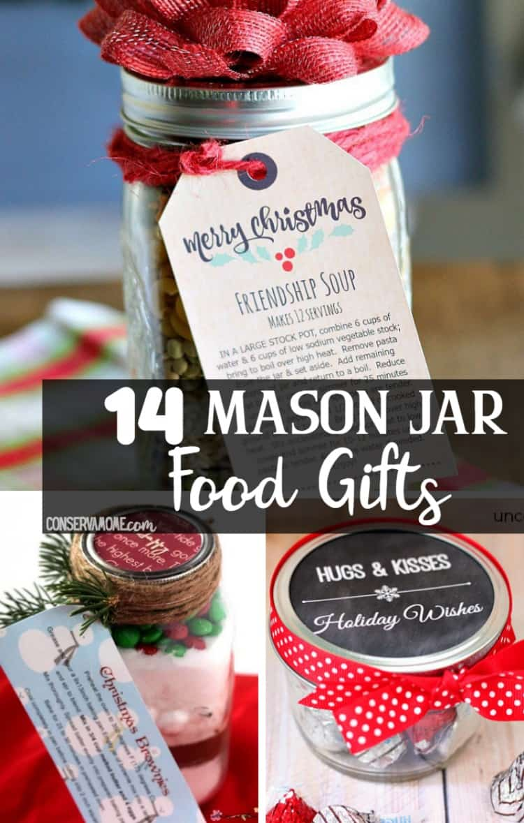 Looking for some fun and unique DIY Homemade gifts? Check out this fun list of 14 Mason Jar Food Gifts.