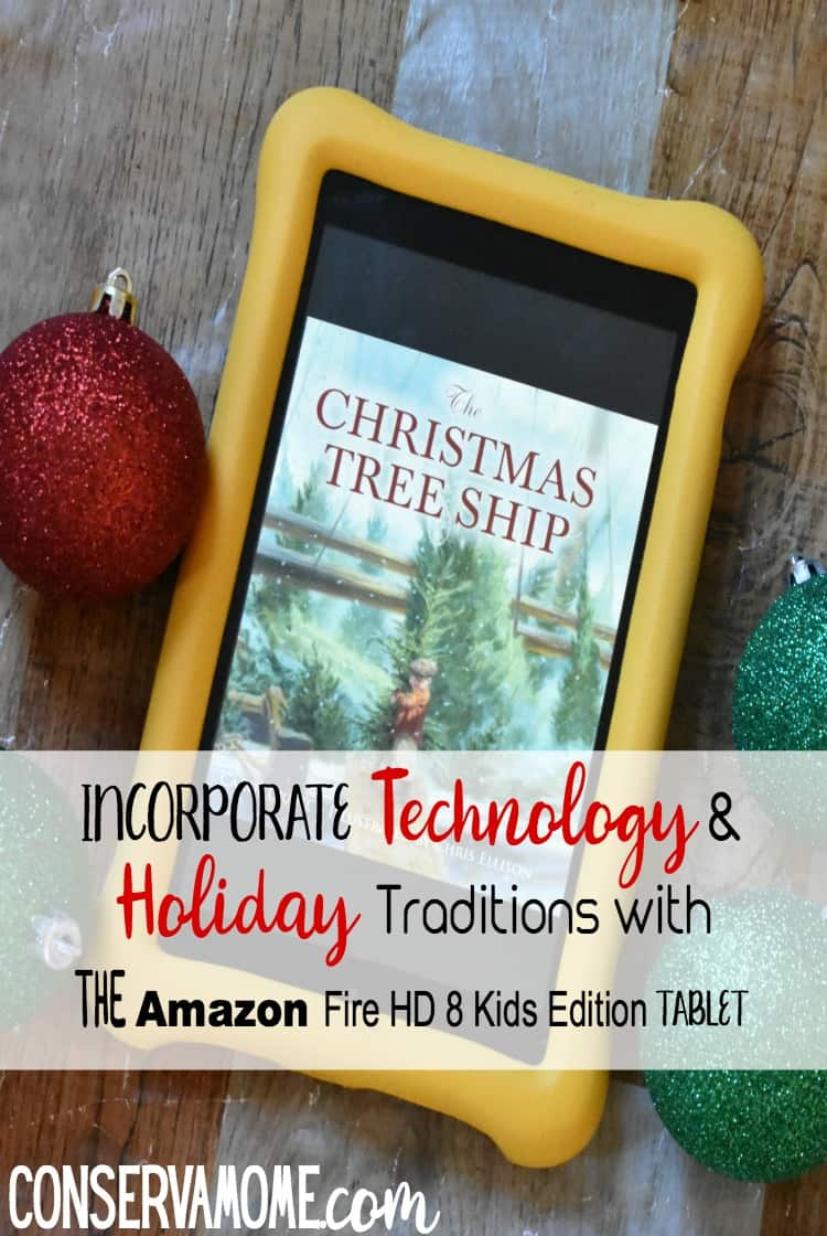 Find out how you can Incorporate Technology and Holiday Traditions with the Amazon HD 8 Kids Edition tablet a fun tool that will joint the best of both worlds.#AmazonKidsandFamily