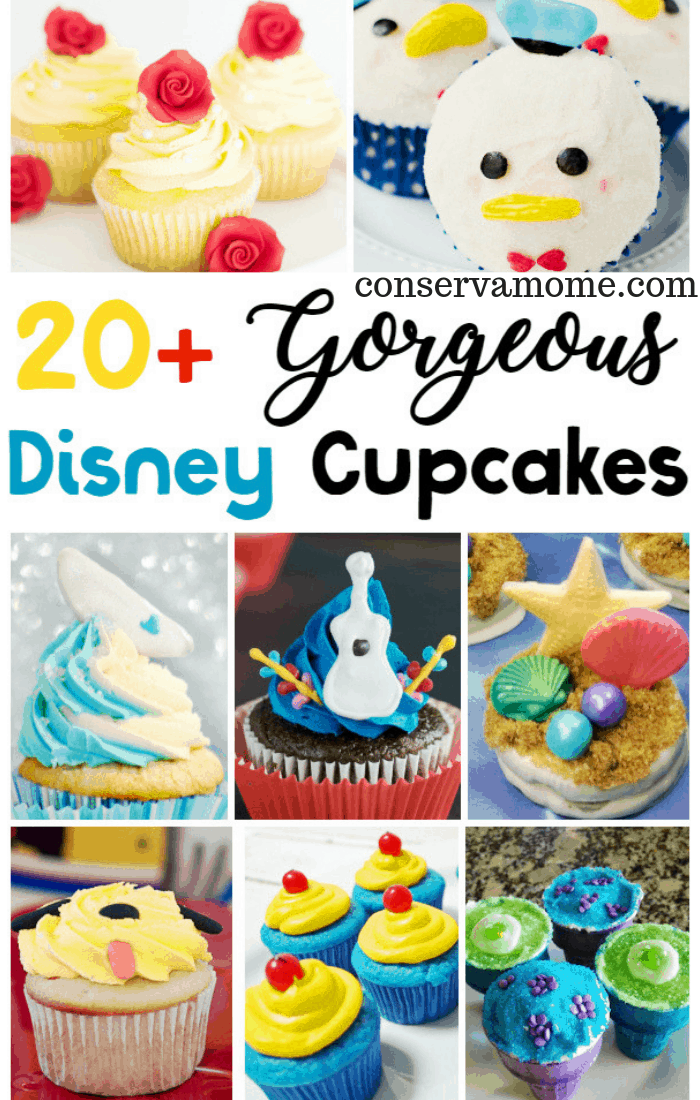 Check out 20+ Gorgeous Disney Cupcakes that are perfect for a birthday party, a celebration, or a way to build excitement for your next Disney trip!