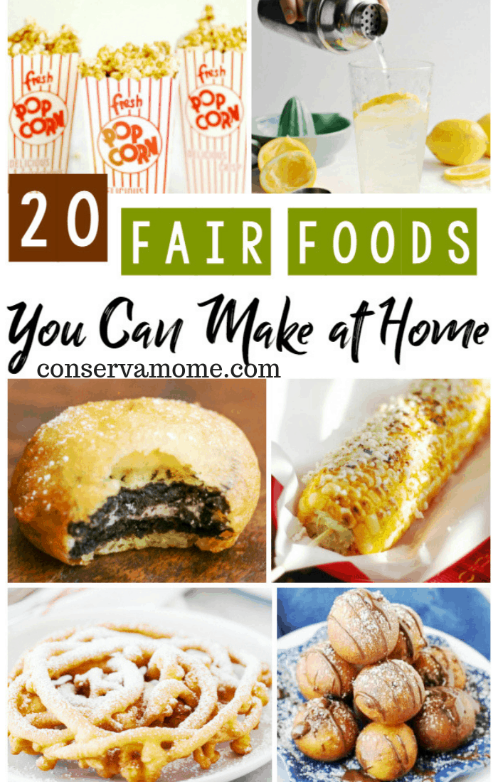 This list of 20+ Fair Foods You Can Make at Home has everything you could desire from Fried Twinkies to Funnel Cakes and we can't forget the Blooming Onion Bites or Walking Tacos!