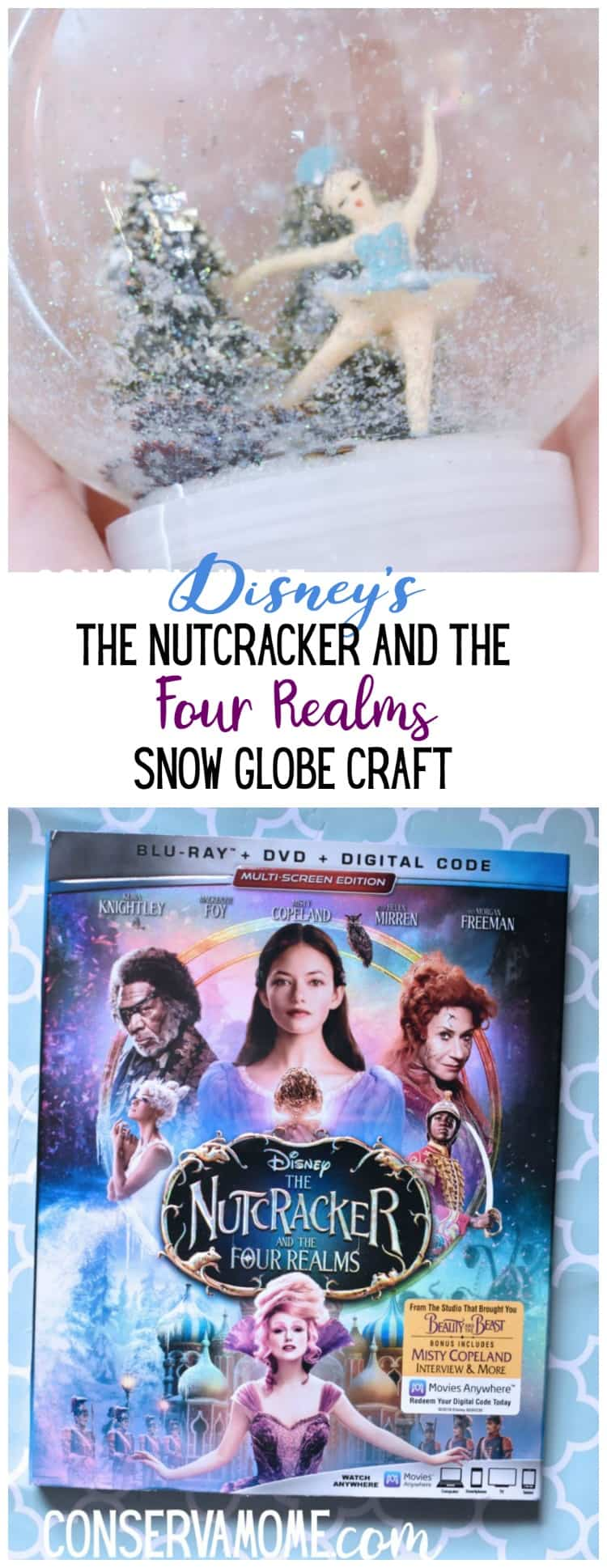 If teamed up with Walt Disney Pictures to bring you a magical craft, The Nutcracker and the Four Realms snow globe craft tutorial. This is an easy and fun craft that's perfect for a birthday party, viewing party or just because