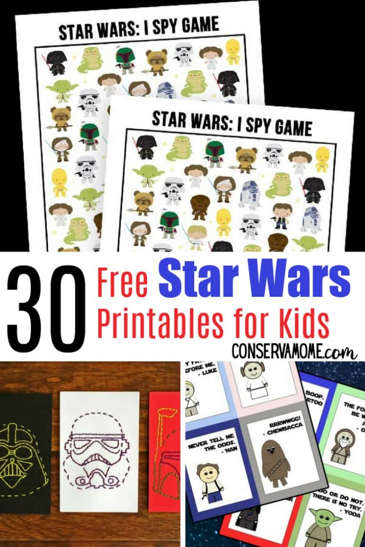 ConservaMom - 30 Free Star Wars Printables for kids - A fun ...