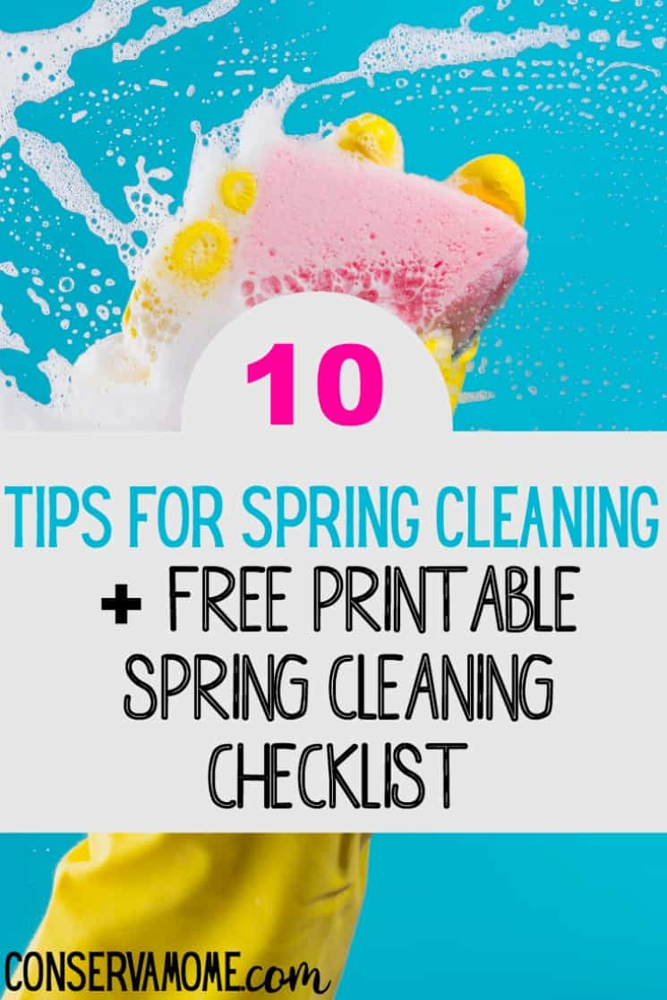 Spring is finally here! Check out 10 Tips for Spring Cleaning + Free Printable Spring Cleaning Checklist and get your house organized and ready for gorgeous weather!