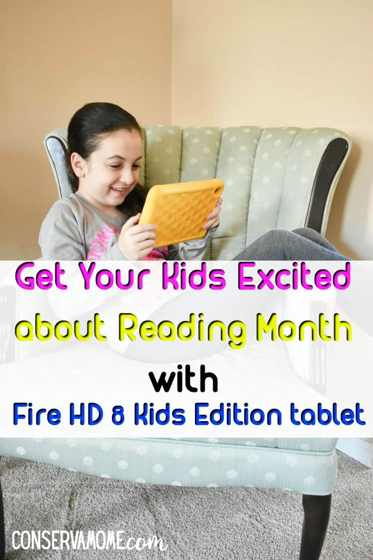 Find out why the Fire HD8 Kids Edition tablet is the perfect way to get your kids excited about Reading Month.