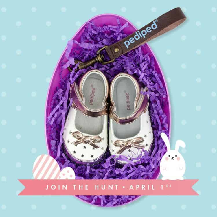 Find out about Pediped's fun new Online Easter Egg Hunt and how finding the daily eggs will get you a pair of 1 cent shoes!