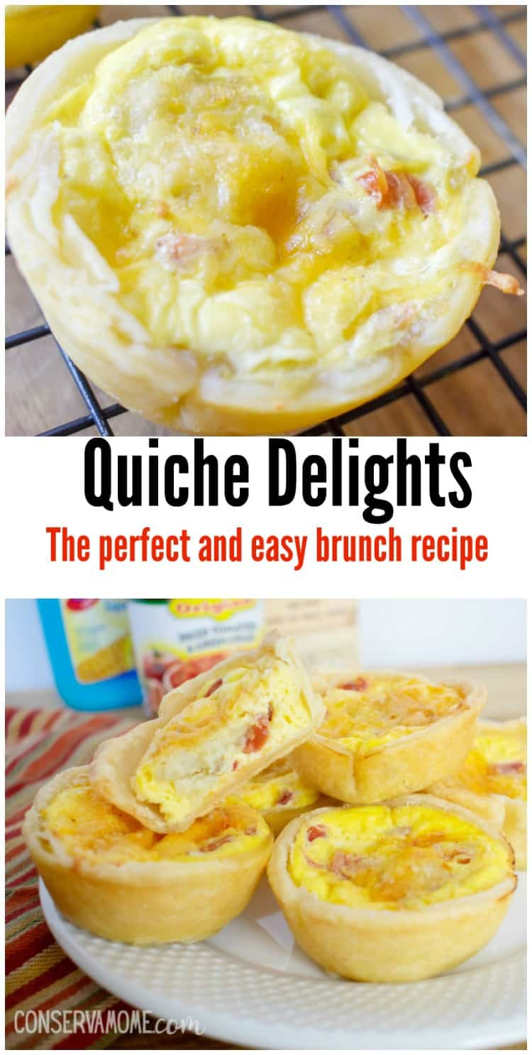 Check out this delicious and easy brunch recipe, Quiche Delight. These small bites will be the hit at any Brunch or Breakfast event.
