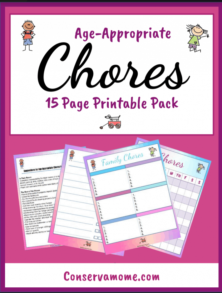 Teaching kids learn responsibility is important. That's why I've put together some tips to help your kids learn how to help. I've included a free printable chore chart and age appropriate chores they can help with.