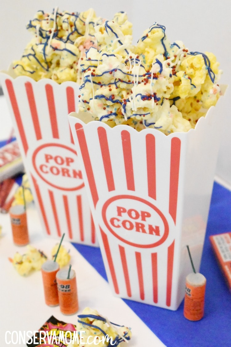 red,white and blue popcorn that pops in your mouth