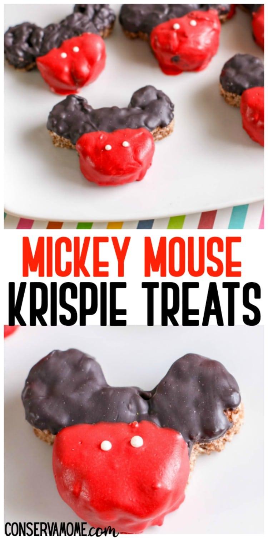 Mickey Mouse Krispie treats the perfect Disney themed Treat