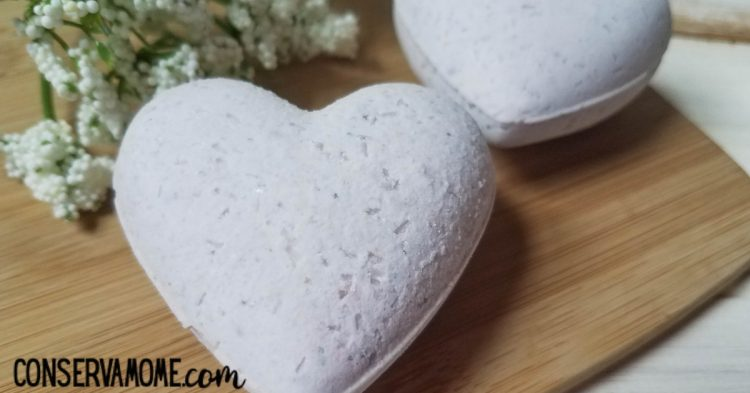 final product of completed bath bomb hearts