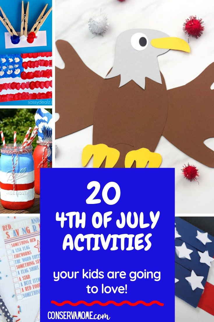 4th of July Activities for Kids : A fun round up of Patriotic Crafts