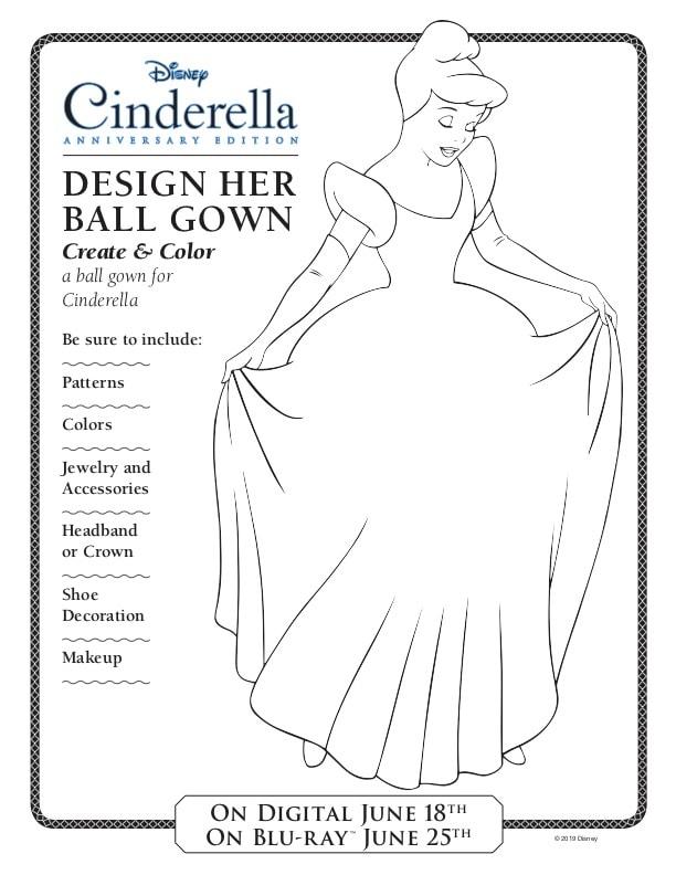 Design cinderella's Ball gown