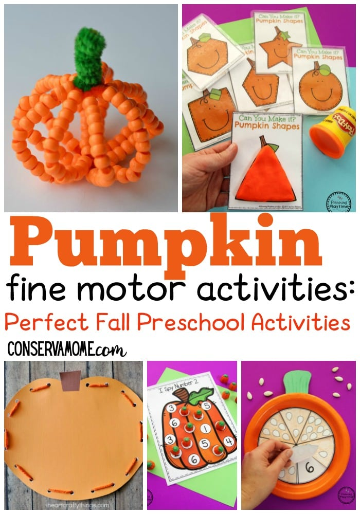 Pumpkin Fine motor Activities