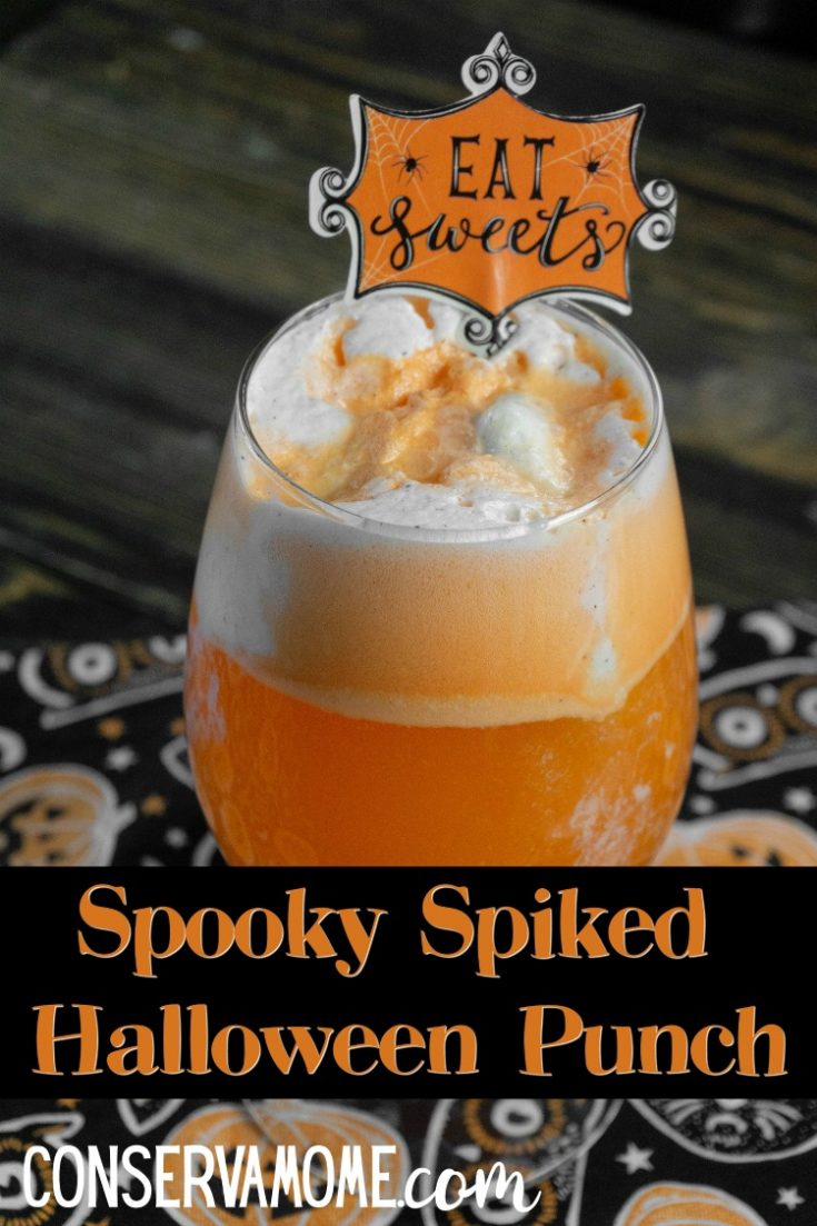 This delicious spooky spiked halloween punch recipe is the perfect halloween cocktail. Easy to make and filled with delicious flavors everyone will love this tasty and refreshing cocktail treat.