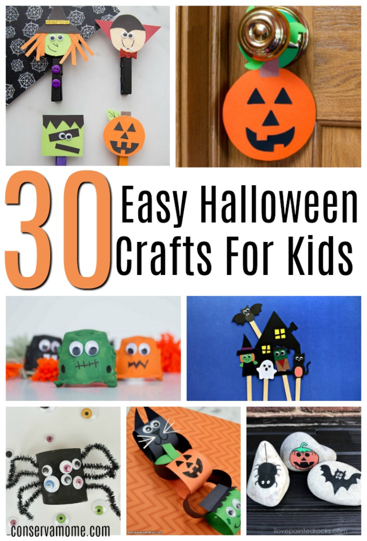 30 Easy halloween Crafts for kids