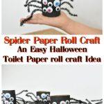Spider paper roll craft